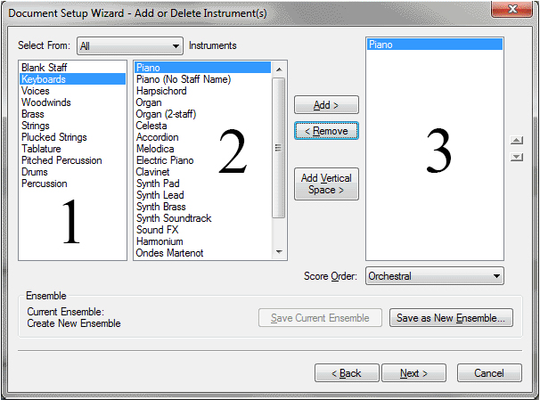 Document Setup Wizard 2